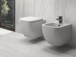 Rak Metropolitan eingestellte Sanitären, Topf, Bidet und Toilettendeckel