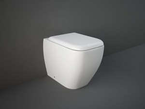 Rak Metropolitan wc- Topf am Boden mit Toilettendeckel MEWC00001