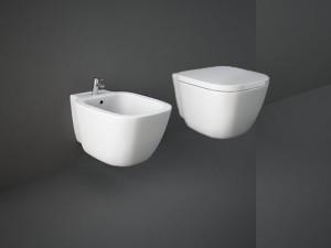 Rak One eingestellte Sanitären, Topf, Bidet und verzögerter Toilettendeckel ONWC00003+ONBI00002+ONSC00004