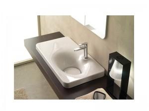 Scarabeo Fuji 80AR Einbau Waschbecken mit Konsole links 6015