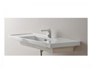 Scarabeo ML Einbau Waschbecken mit doppelter Konsole 3007
