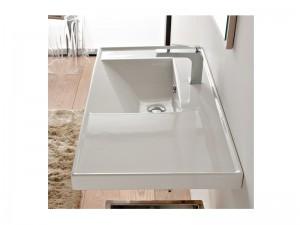 Scarabeo ML Einbau Waschbecken mit Konsole 3009