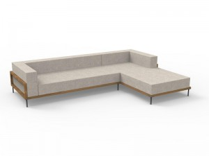 Talenti Cleo Teak moduliertes Sofa aus Gewebe CLEDX.LONSX
