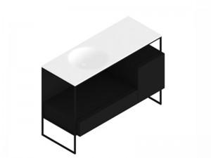 Zucchetti Kos Morphing Möbelstück mit Waschbecken 8MP303NE