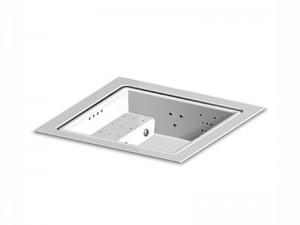 Zucchetti Kos Quadrat Standard Full optional kleines Schwimmbecken Whirlpool mit Einbau.