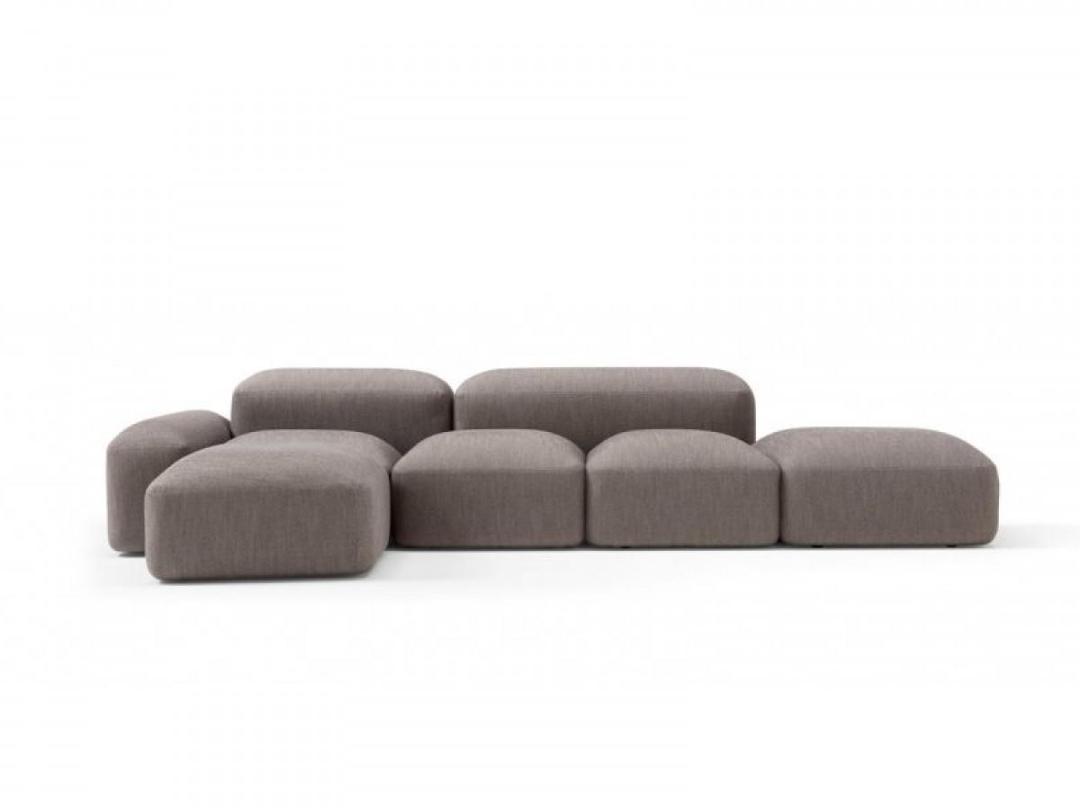 Amura Lapis zusammensetzbares Sofa aus Gewebe LAPIS.E019